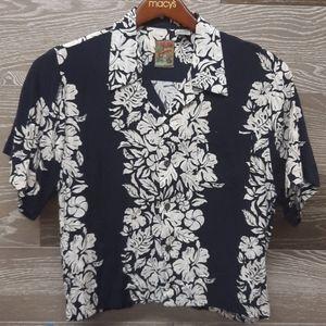 Pineapple connection blue 100% Rayon island shirt